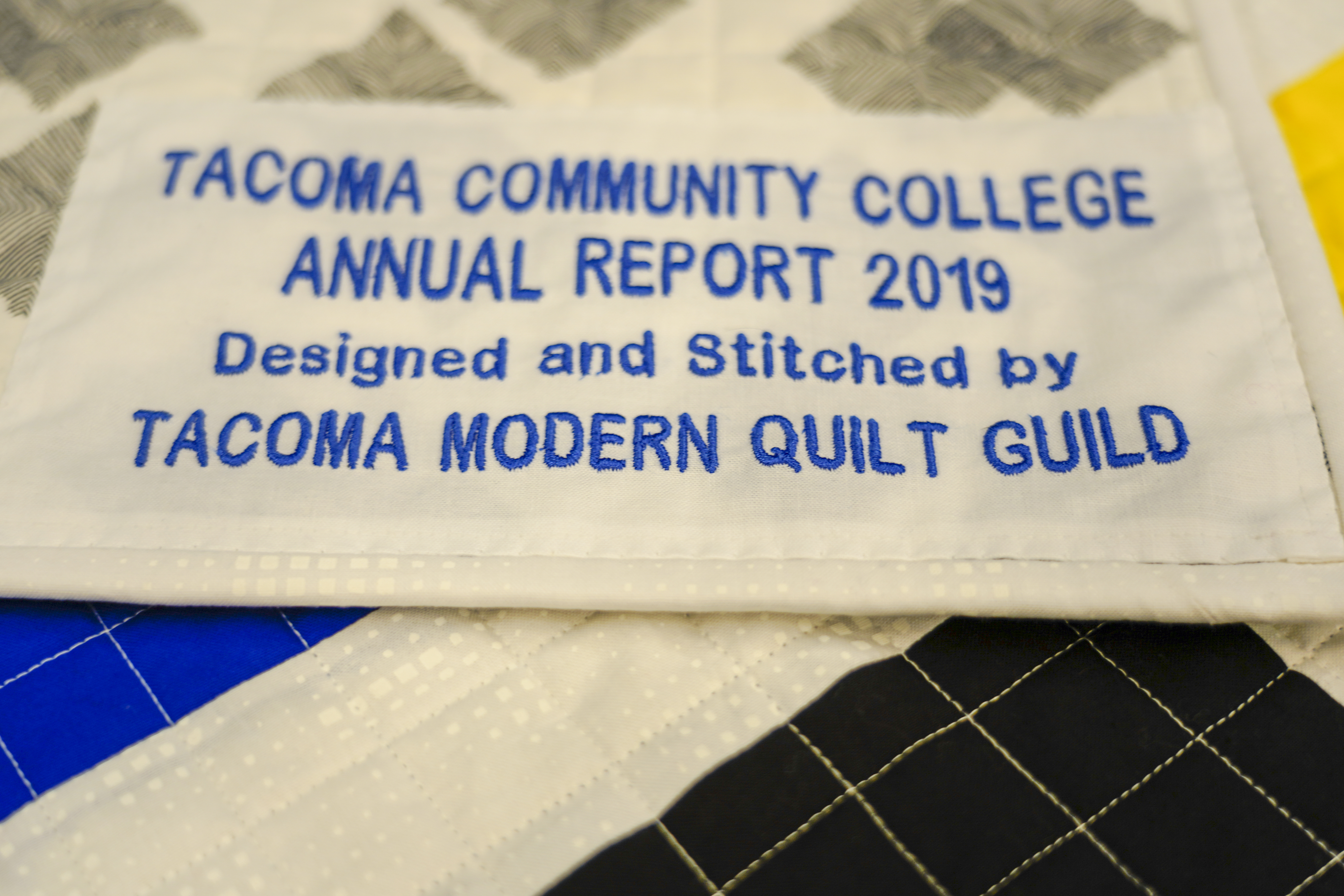 TCC Annual Report Quilt Lable