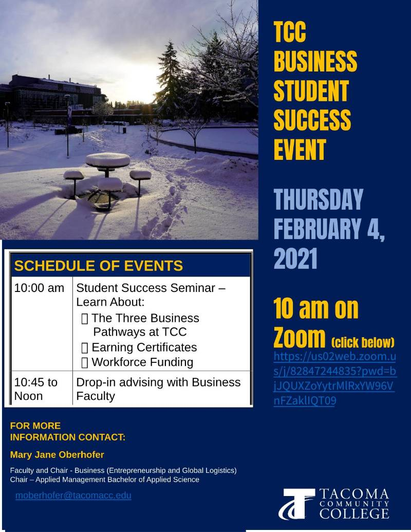 flyer for Feb. 4 Business Success event